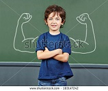 stock-photo-strong-child-with-muscles-drawn-on-chalkboard-in-elementary-school-183147242